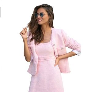 Zara pink tweed dress - NWT - S